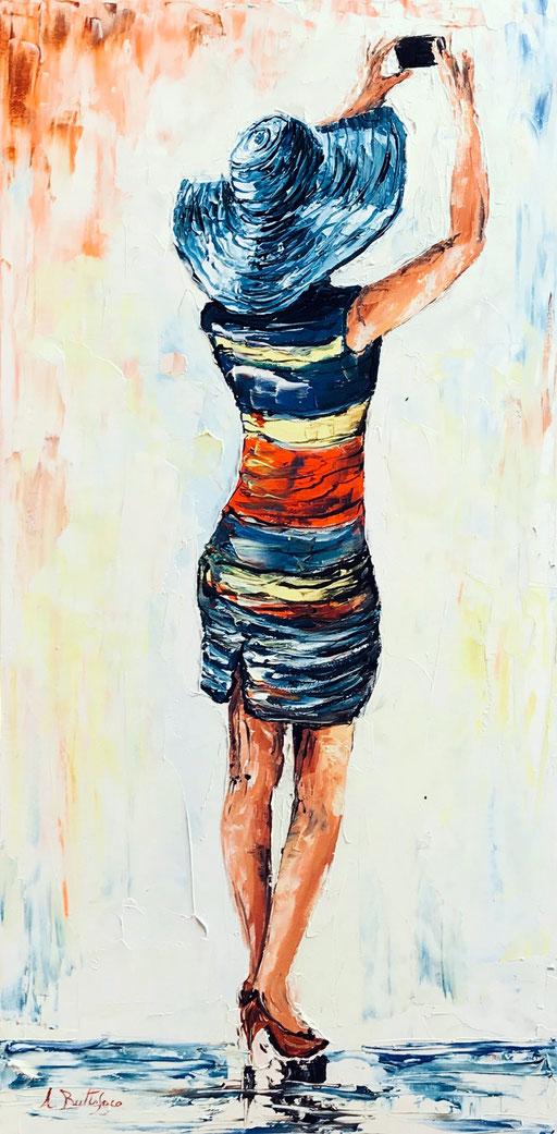 women 9 olio su tela spatolat 30x60