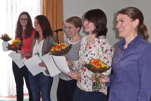 Die besten schriftlichen Arbeiten reichten Martina Stallmann (von links), Friederike Klein, Anne Krull, Ines Eertmoed und Heike Walker ein. Foto: Ulrichs