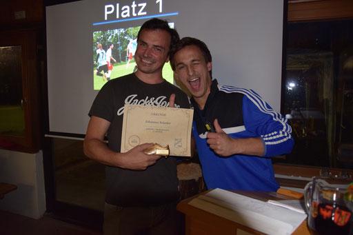 Bei der 1.Mannschaft war es Johannes Scheder, der als bester Vorlagengeber glänzte.