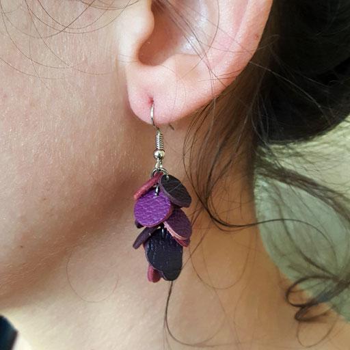 Atelier Passions Indigo : Boucles d'oreilles CONFETTIS