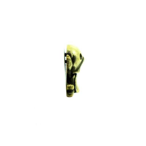 funnyskull L material : BRASS color :  Vintage size : 17mm x 21mm x 7mm