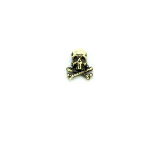 captain skull S:海賊旗をイメージしたシンプルなクロスボーンスカルのピンズ。半立体なので、帽子や洋服などにもワンポイントとしてさりげなく付けられます。