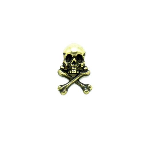 captain skull L:海賊旗をイメージしたシンプルなクロスボーンスカルのLサイズピンズ。Sサイズより存在感があります。骸骨好きならLサイズ!