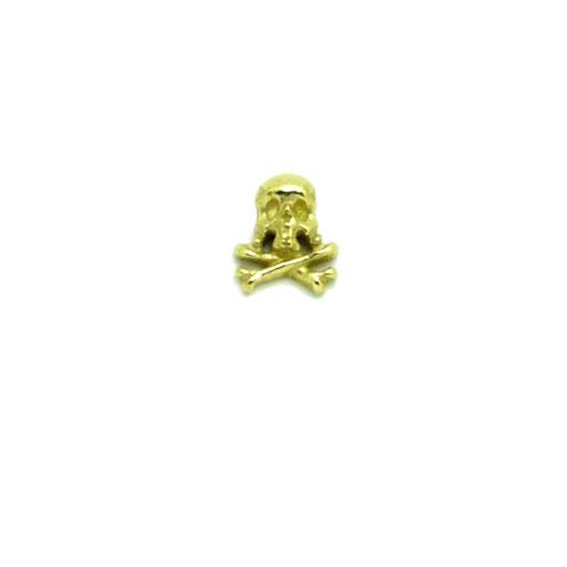 captainnskull S:海賊旗をイメージしたシンプルなクロスボーンスカルのピンズ。半立体なので、帽子や洋服などにもワンポイントとしてさりげなく付けられます。