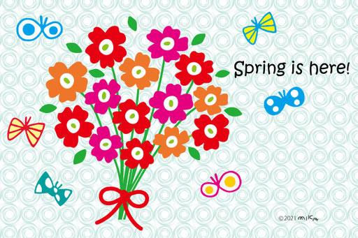 Spring is here(背景水色)
