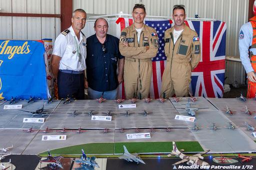 Marty, Babouc et Representant de l'Armée de l'Air au stand Mondiales des Patrouille 1/72