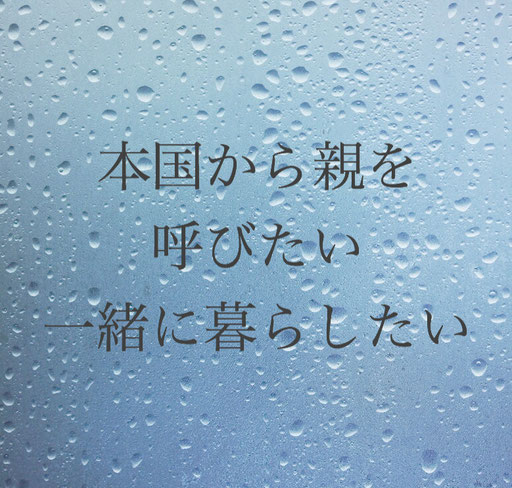 日本に在留する外国人の親を本国から日本に呼び寄せる・在留資格「特定活動ビザ」・外国人の老親の日本呼び寄せ・ビザ申請手続き・神奈川県相模原市南区東林間の行政書士髙橋国際法務事務所・ビザカナ相模原にご相談ください。在留資格ビザ専門行政書士にお任せください。申請書類作成・入国管理局申請を代行