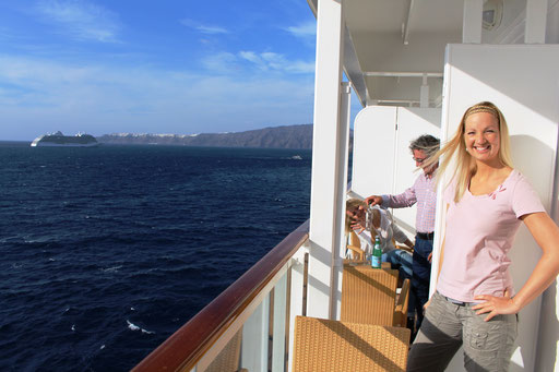Ouzo-Party auf der Balkonkabine!