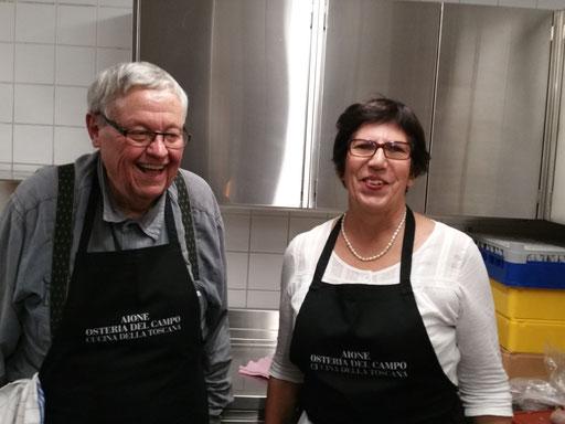 Willy und Christine sorgen für unser leibliches Wohl