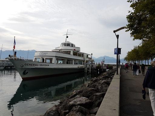 unser Schiff in Lausanne