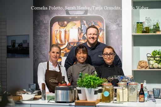 Eventlocation, Kochschule, Küchenparty in Hamburg, Trend Studio & Loft, bezaubernde Kolleginnen, Cornelia Poletto, Sahra Henke, Tanja Grandits