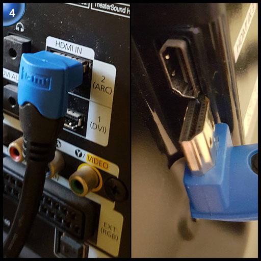 KabelDirekt 2m 90° HDMI Winkelkabel / kompatibel mit HDMI 2.0a/b, 2.0, 1.4a (Ultra HD, 4K, 3D, Full HD, 1080p, HDR, ARC, Highspeed mit Ethernet) - TOP Series