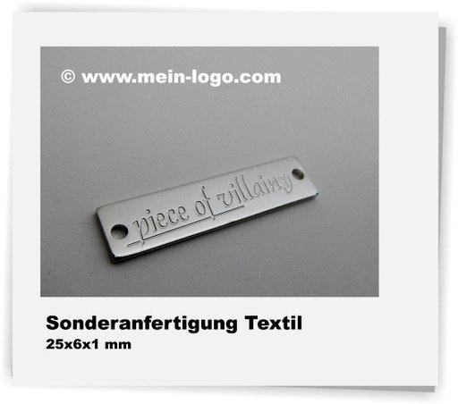 Logoplättchen für Textilien