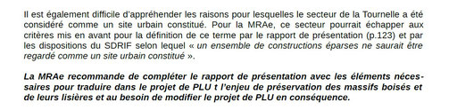 Extrait 3 Avis de la MRAE :Missions régionales d'autorité environnementale