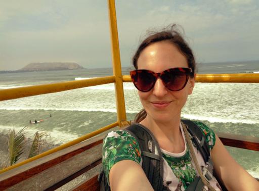 Selfie-Time beim Strandspaziergang