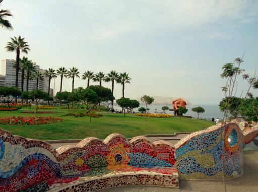 Vom Parque del Amor in Miraflores hat man eine wunderbare Aussicht aufs Meer