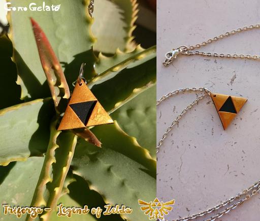 Simbolo della Triforza dalla serie The Legend of Zelda , 2 cm per lato! 🗡 - 6*