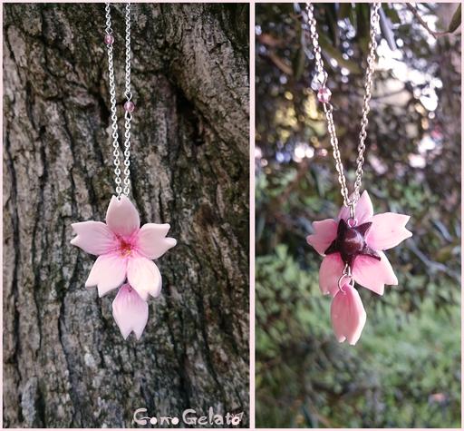 Fiore di cliegio con petalo pendente - 12*