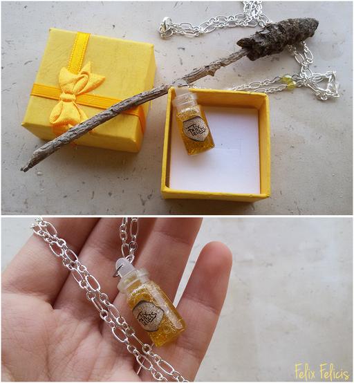 Collana con boccetta di vetro - Felix Felicis, dalla saga di Harry Potter - 7*