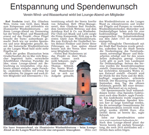 Wetterauer Zeitung, 25. August 2018