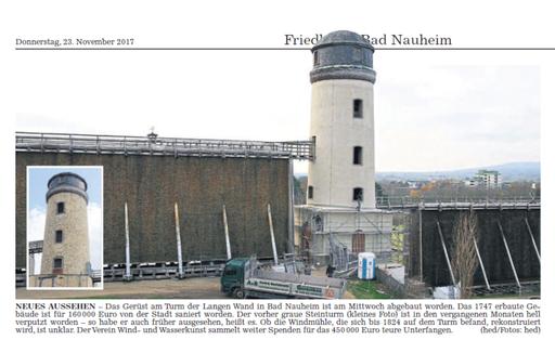 Wetterauer Zeitung, 23. November 2017