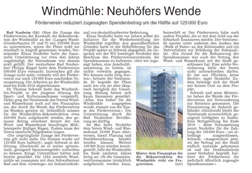 Wetterauer Zeitung, 15. September 2017