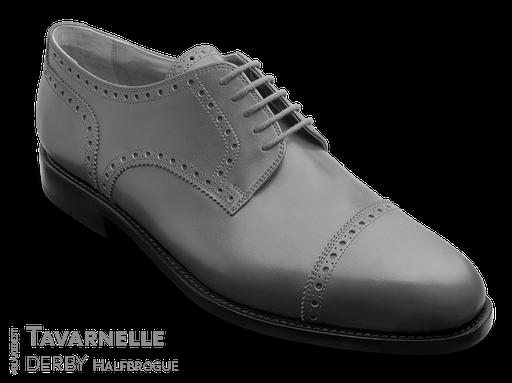 klassischer Maßschuh Modell Straight Tip Derby - Halbschuh mit glattem Vorderblatt mit Vorderkappe, gelocht mit Lyralochung