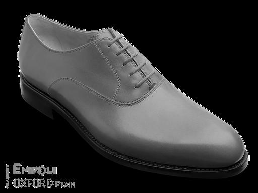klassischer Maßschuh Modell Plain Oxford- Halbschuh mit glattem Vorderblatt ohne Vorderkappe