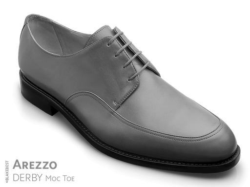 klassischer Maßschuh Modell Moc Toe Derby- Halbschuh mit Naht auf dem Vorderblatt