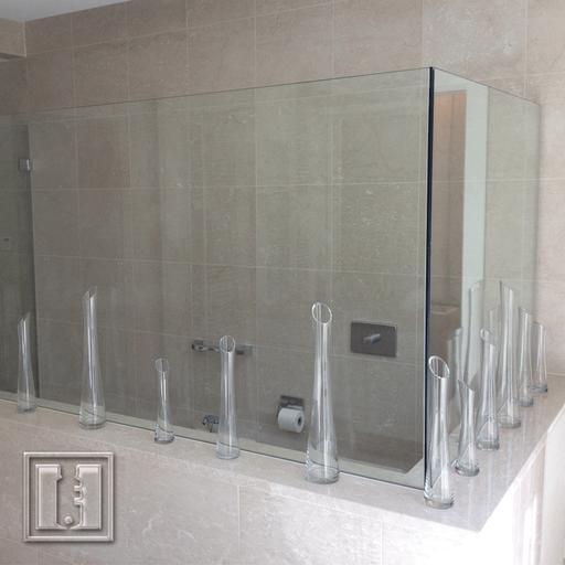 Trennwand im WC und Duschbereich / Referenz: Privathaushalt München / Glaserei Fischbach