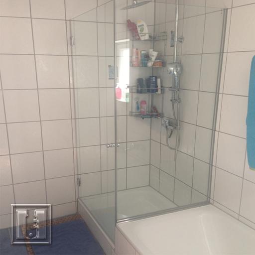 Dusche mit U-Profilen / Referenz: Privathaushalt München / Glaserei Fischbach