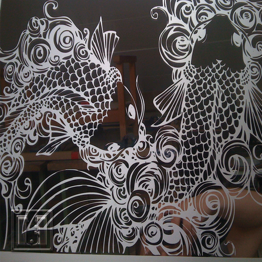 Sandstrahlung Rückseite Spiegel