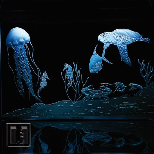 3D Sandstrahlung mit Beleuchtung