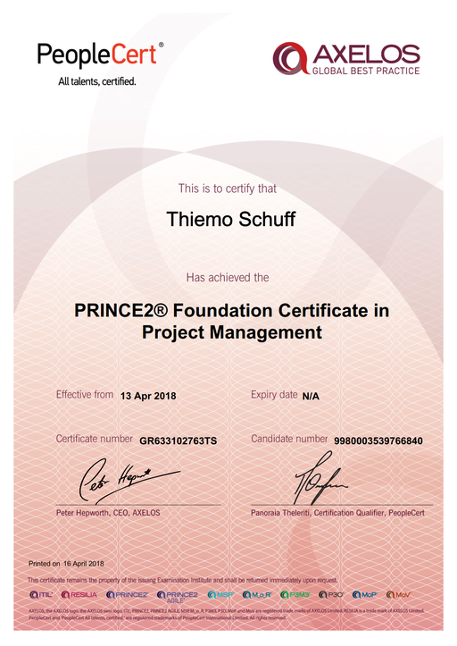 PRINCE2 Foundation