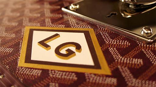 LG initiales Goyard peinture au pochoir