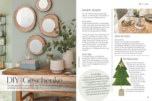 My GREEN Home, DIY, Holzscheiben, Spiegel