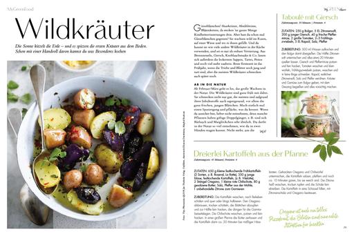 My GREEN Home, Wildkräuter Rezepte Saisonkalender