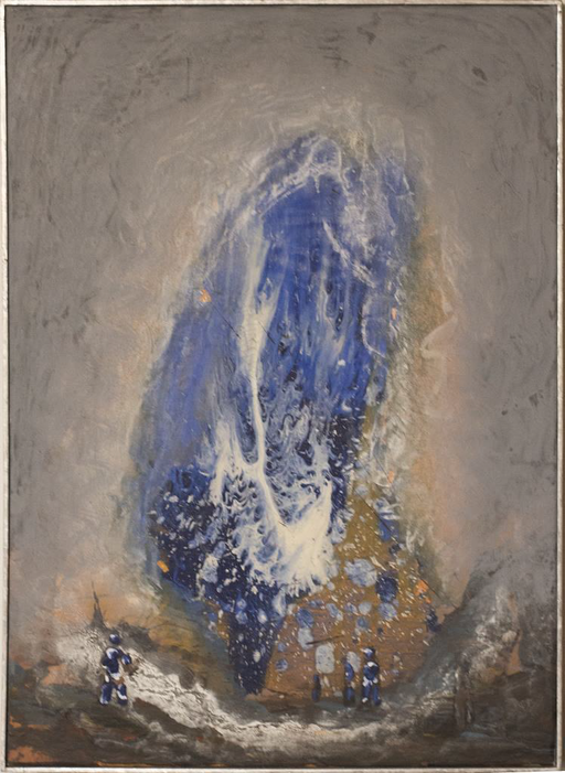 2009, Blauzauber, 70x50, Acryl-Leinwand