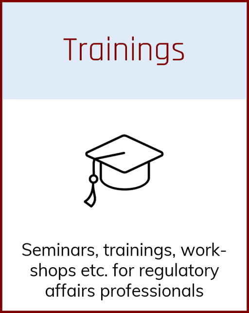 Seminars, trainings, workshops for regulatory affairs manager in Germany