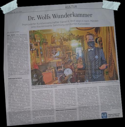 aus dem Göttinger Tageblatt 28.7.2020