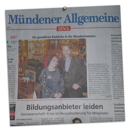 aus der Mündener Allgemeinen 28.7.2020