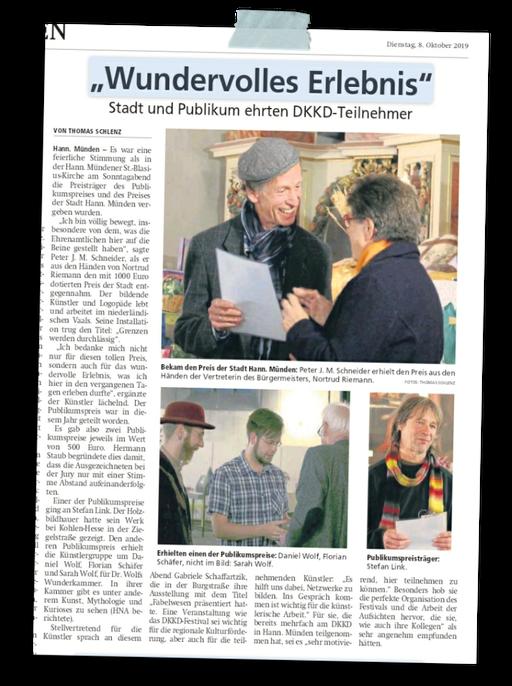 aus der Mündener Allgemeinen 8.10.2019