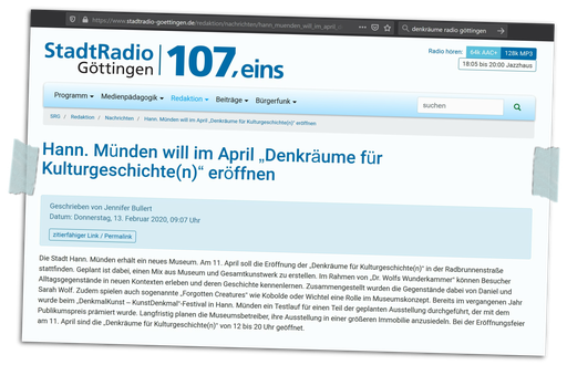 das Stadtradio Göttingen berichtete am 13.2.2020