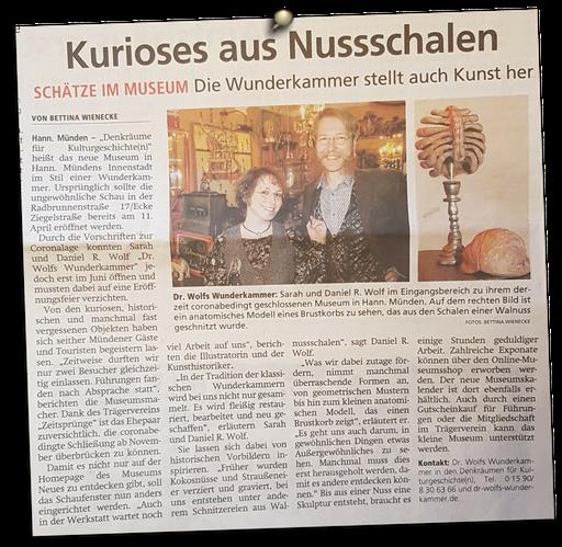 aus der Mündener Allgemeinen 27.11.2020