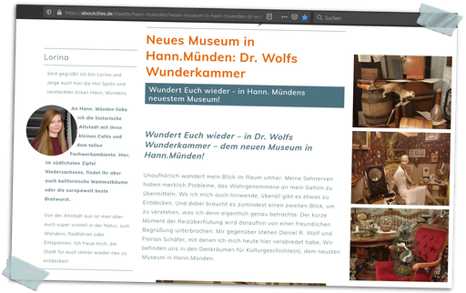 Der ganze Bericht auf: aboutcities.de/staedte/hann-muenden Okt. 2020