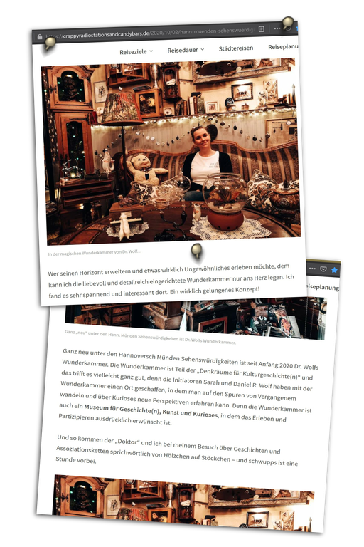 Bericht vom crappyradiostationsandcandybars.de Reiseblog Okt. 2020