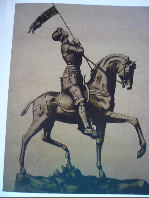 Jeanne d'Arc à cheval