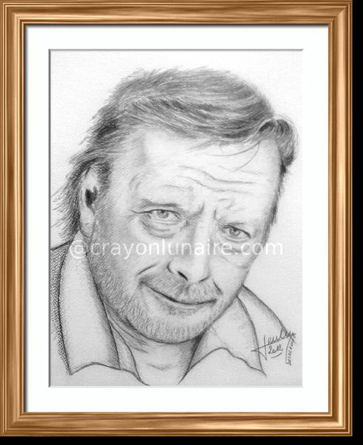 Renaud portrait au fusain