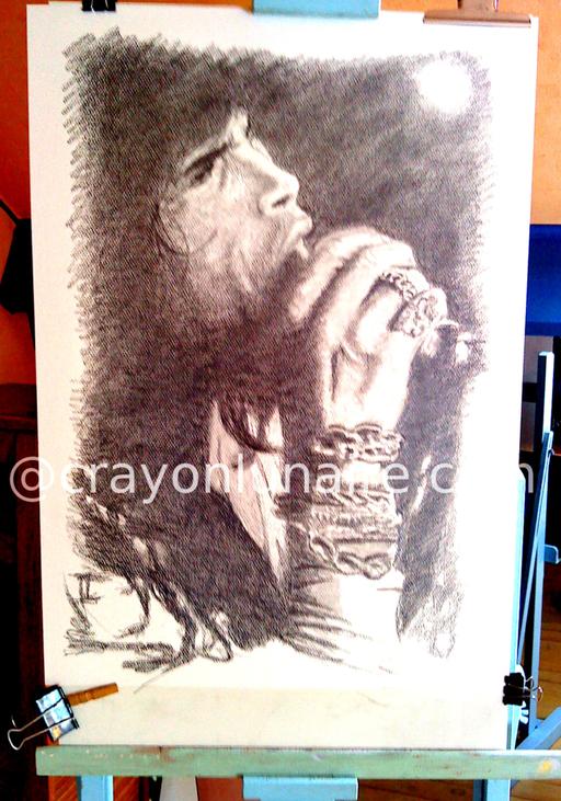Steven Tyler portrait graphite
