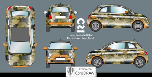 Illustrazione vettoriale per bozze car wrapping